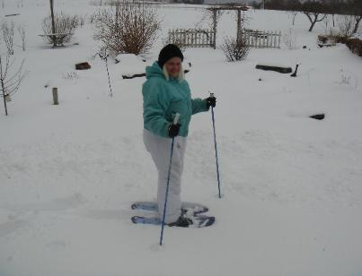 Snowshoeing at Heritage Meadows Farm B&B